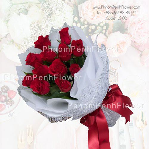 Elegant bouquet 12 Red rose