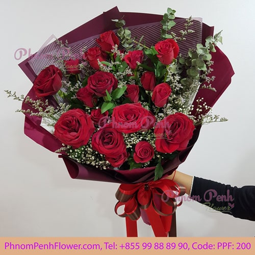 18 red roses bouquet – PPF-200