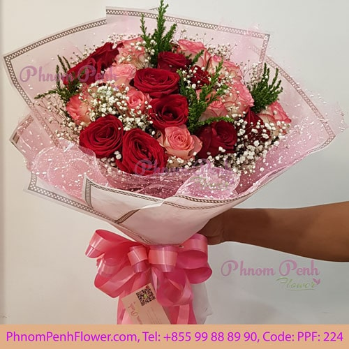 24 assort Roses bouquet