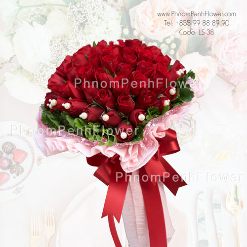 36 Red Roses hand bouquet – LS-38