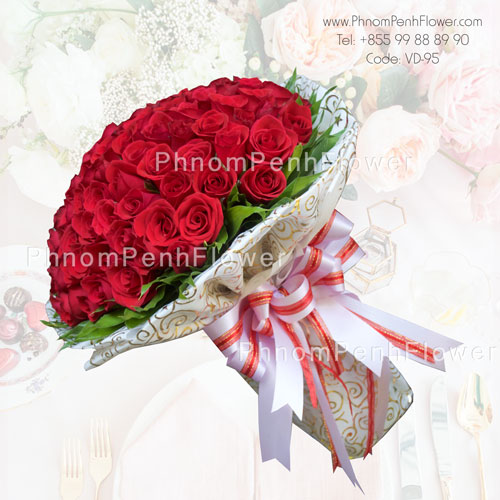 99 Red rose bouquet – VD-95