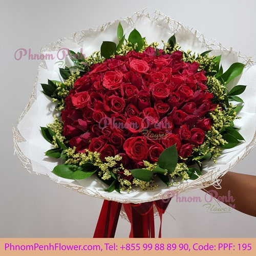 99 red rose bouquet – PPF-195