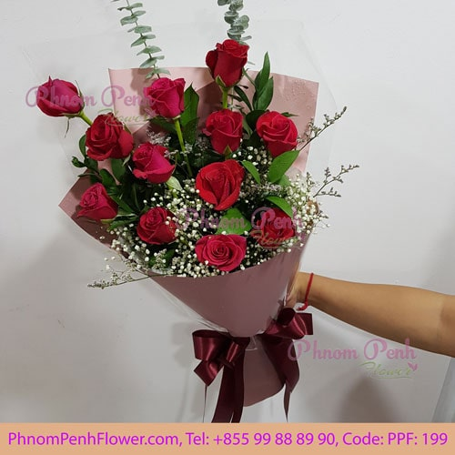 Dozen Red roses bouquet - PPF-199