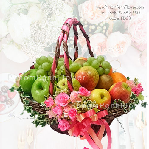 Healthy Gourmet basket arrangement – FB-03