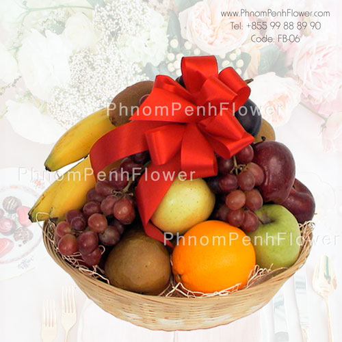 Tropical fruit basket arrangement – FB-06