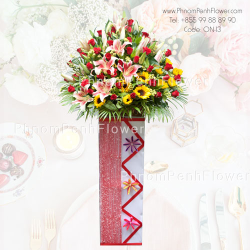 Grand Opening Flower Stand- 0n-13
