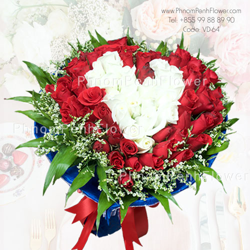 Love heart bouquet arrangement – VD-64