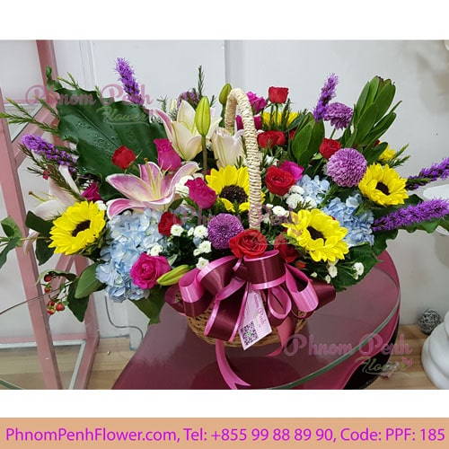 Mix Cut Flower Basket PPF-185