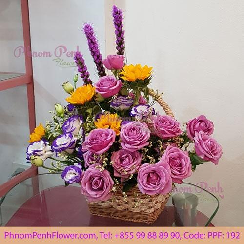 Basket Mixed Cut Flower PPF-192