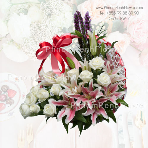 Stunning Lily and Rose Basket – BW-17