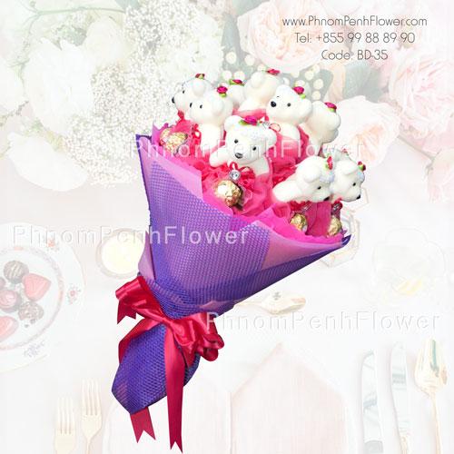 Chocolate & Teddy Bear Bouquet – BD-35