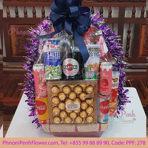 Classic Champagne Gift Basket - PPF-278