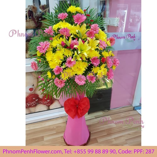 887cc9c35ae Simply joyful grand opening flower stand - PPF-287 - PhnomPenhFlower