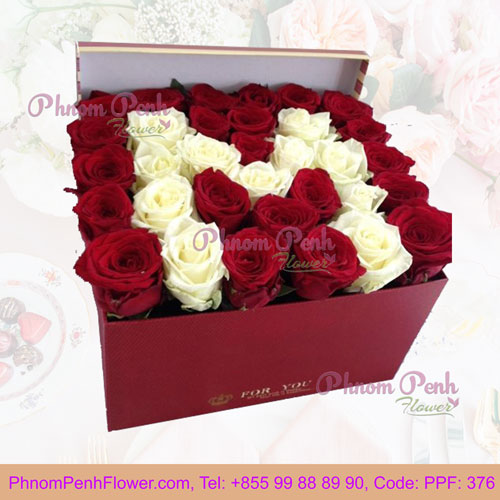 PPF-376 Floral Box Handmade Roses