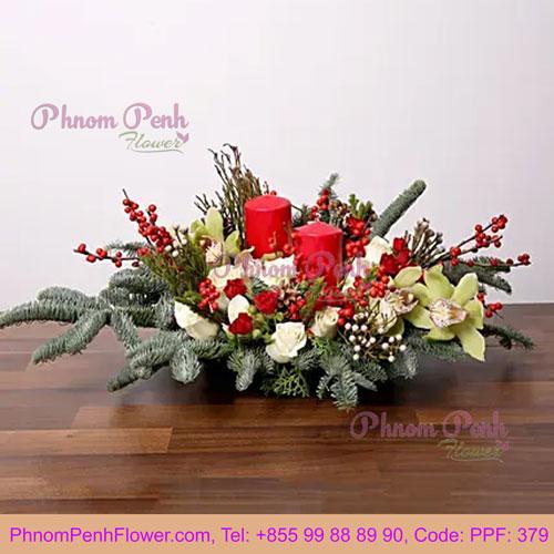 PPF-379 Splendid Christmas Flower Arrangement