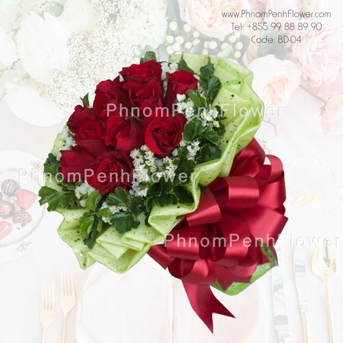 12 Red rose bouquet – BD-04