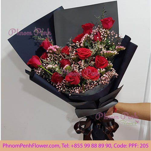 16 red rose bouquet – PPF-205