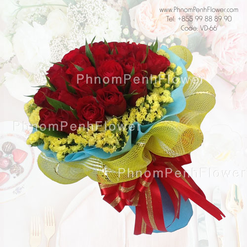 2 Dozen Red Roses bouquet – VD-66