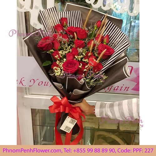 24 Red Roses Bouquet – PPF-227
