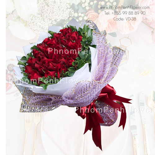 36 Red Roses bouquet – VD-38