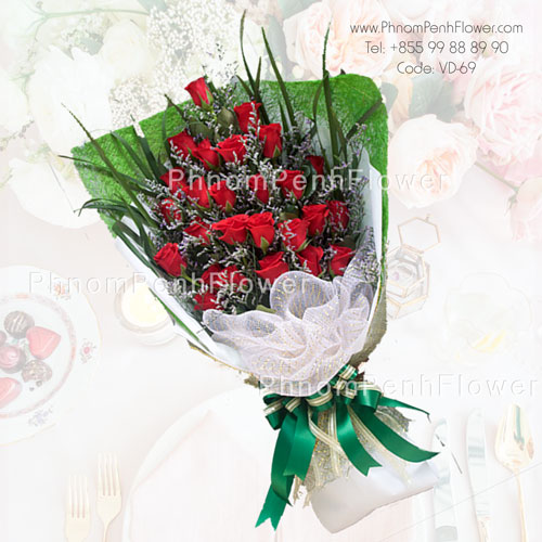 36 Red Roses bouquet – VD-69