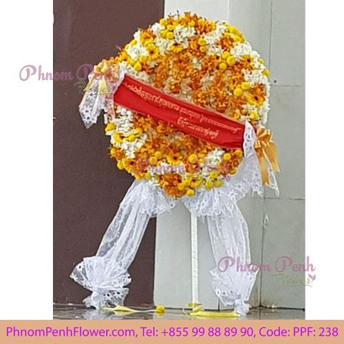 Deluxe Funeral Standing Wreath