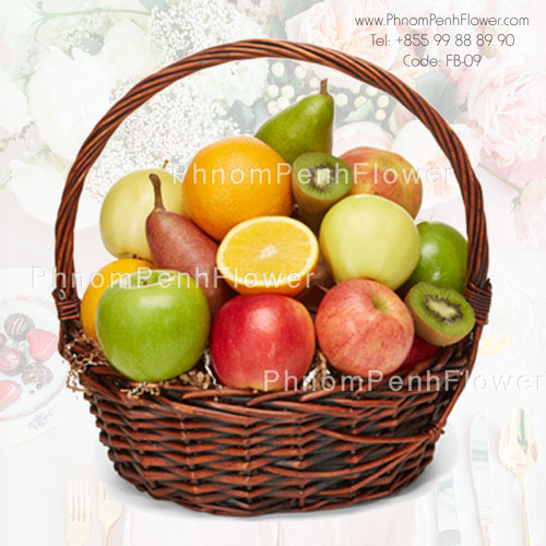 Deluxe fruit basket arrangement