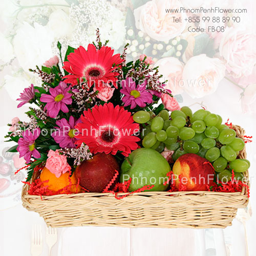 Flowers & Fruit basket – FB-08