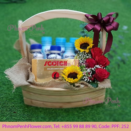 Flowers Arrangement with Bird Nest- PPF – 252