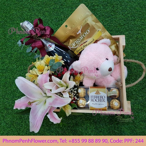 Flowers & Gifts basket - PPF-244