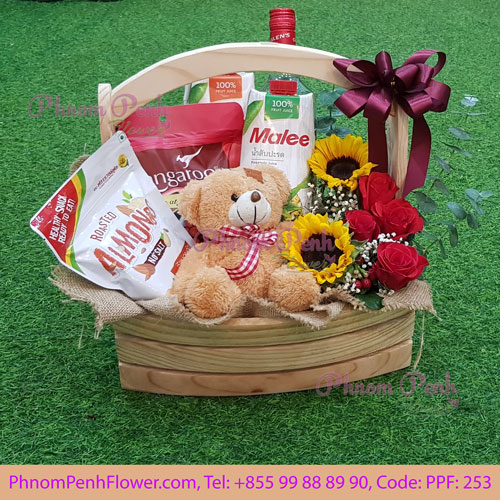 Flowers & Gifts basket - PPF-253