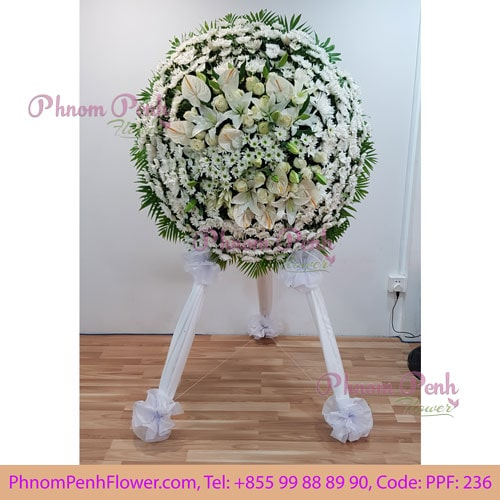Funeral Flowers Wreath Stand