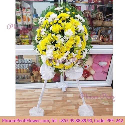 Funeral Standing spray wreath