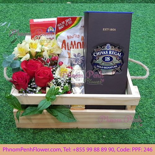 Gifts box with Chiva & Flowers - PPF-246