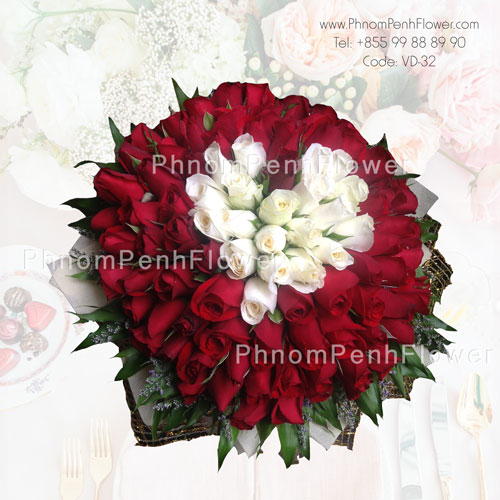 Love heart bouquet arrangement – VD-32