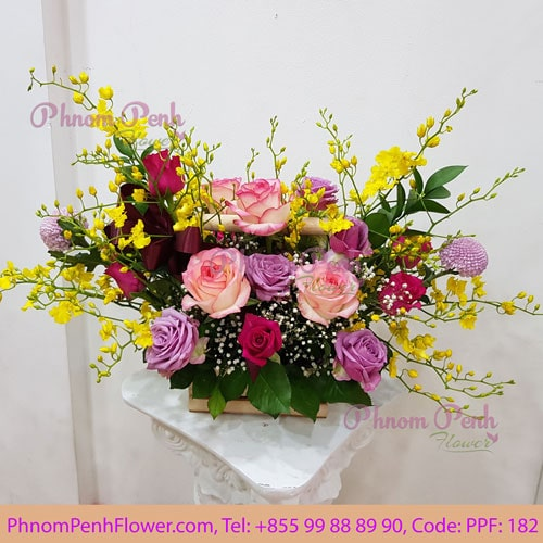 Seasonal Cut Flower Basket PPF-182