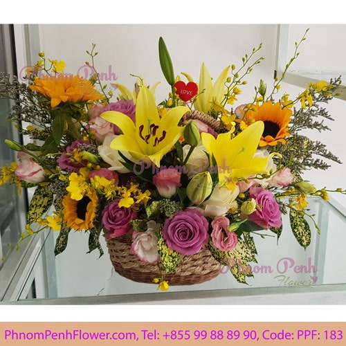 Basket Seasonal Cut Flower