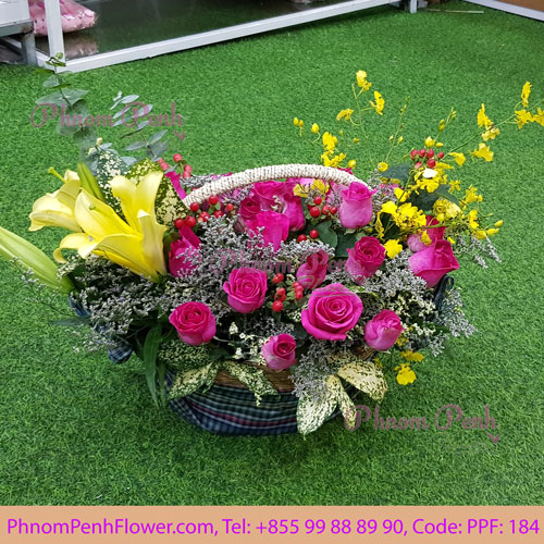 Seasonal Cut Flowers Basket PPF-184