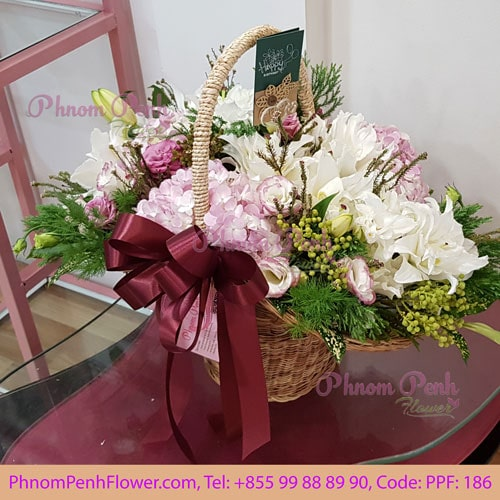 Season Cut Flower Basket PPF-186