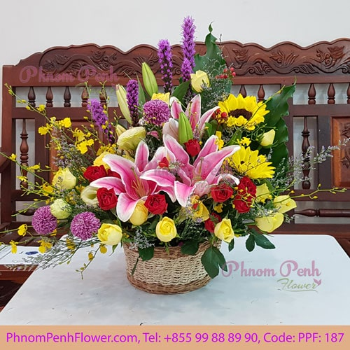 Season Cut Flowers Basket PPF-187