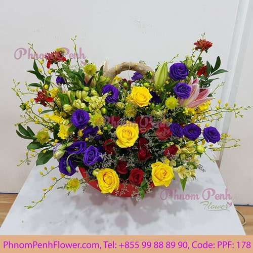 Mixed flower basket – PPF-178