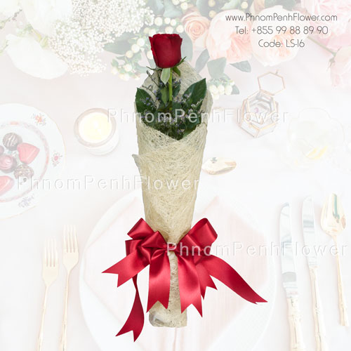Single Red Roses Bouquet – LS-16