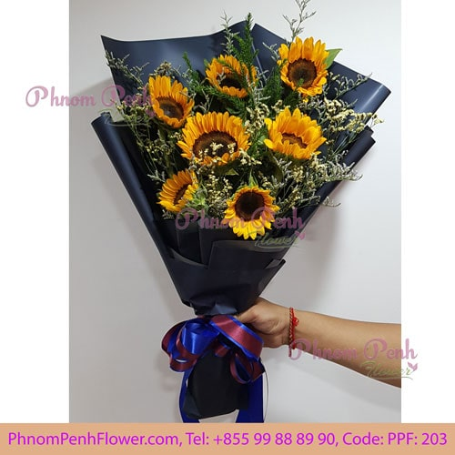 Sunflower bouquet – PPF-203