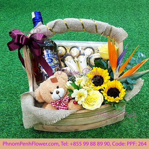 Celebration gifts with flower - PPF-264