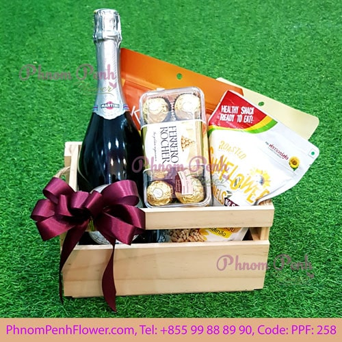 Champagne gift basket - PPF-258