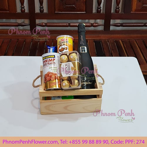Champagne with Gourmet basket - PPF-274