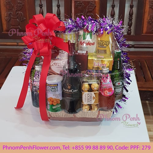 Christmas & New Year Gift Basket - PPF-279