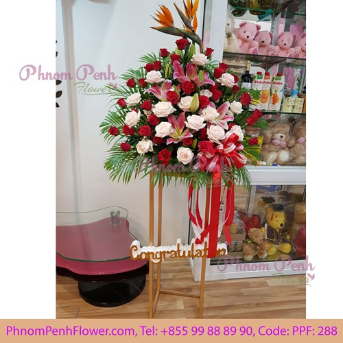 Sweet celebration opening flower stand - PPF-288