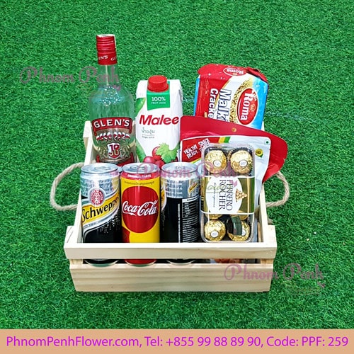White wine gift Basket - 259