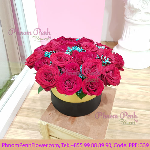 Red Rose Luxury Flower box - PPF-339